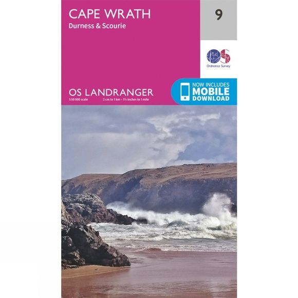Ordnance Survey Landranger Map 09 Cape Wrath V16