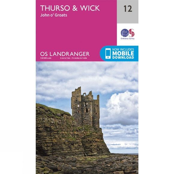 Ordnance Survey Landranger Map 12 Thurso and Wick V16