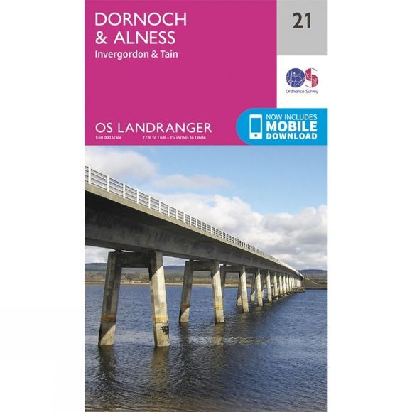 Ordnance Survey Landranger Map 21 Dornoch and Alness V16
