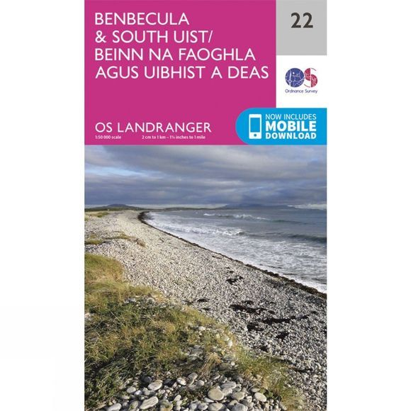 Landranger Map 22 Benbecula and South Uist