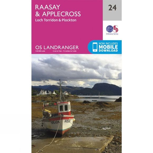 Landranger Map 24 Raasay and Applecross