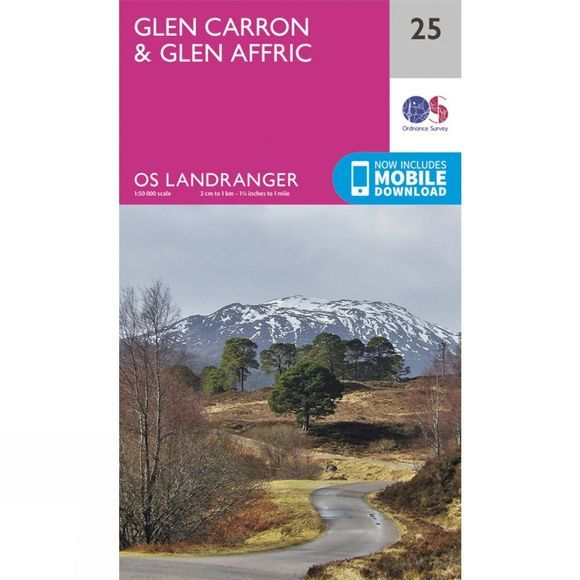 Landranger Map 25 Glen Carron and Glen Affric