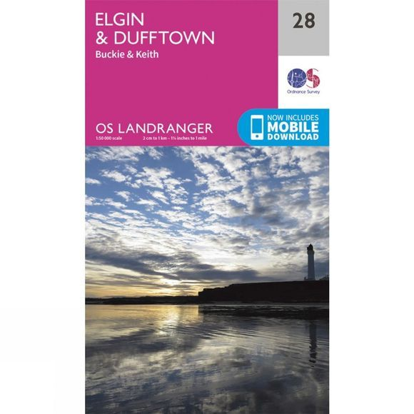 Ordnance Survey Landranger Map 28 Elgin and Dufftown V16