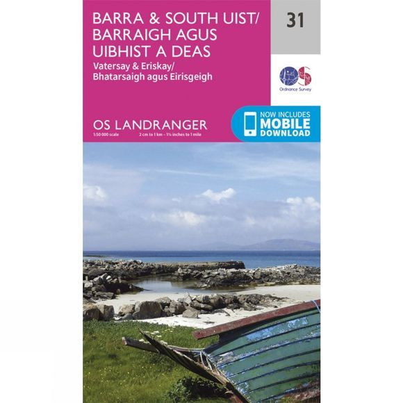 Landranger Map 31 Barra and South Uist