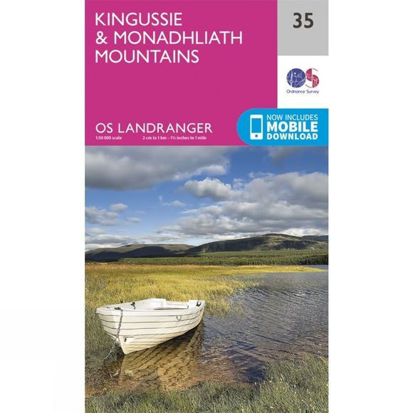 Ordnance Survey Landranger Map 35 Kingussie and Monadhliath Mountains V16