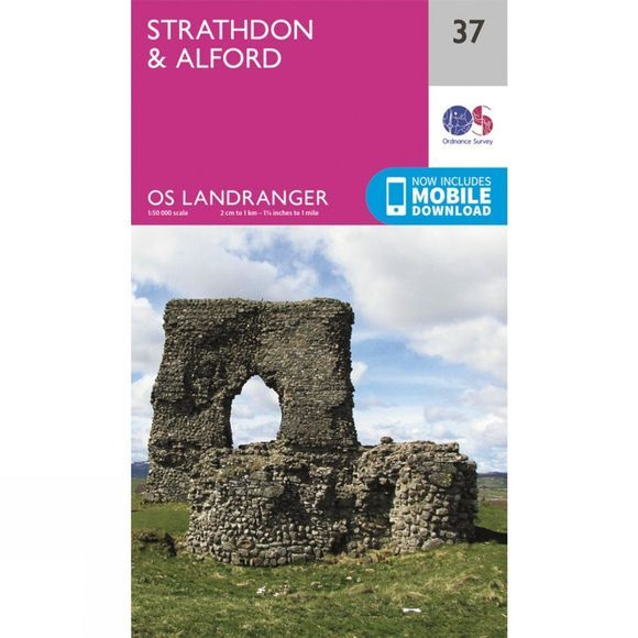 Ordnance Survey Landranger Map 37 Strathdon and Alford V16
