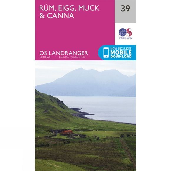 Landranger Map 39 Rum, Eigg, Muck and Canna