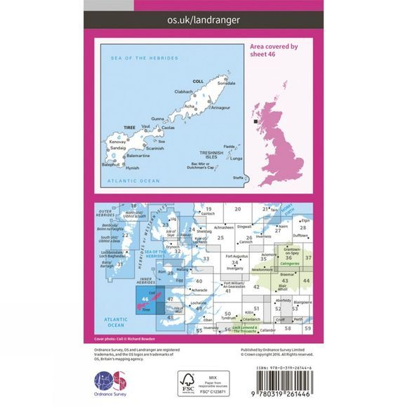 Landranger Map 46 Coll and Tiree