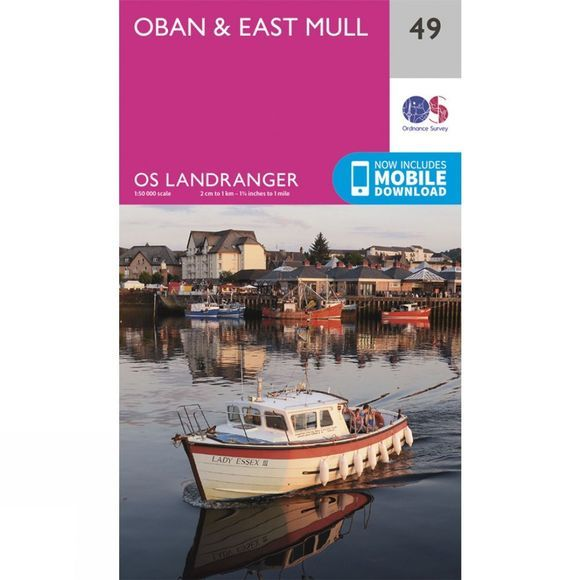 Landranger Map 49 Oban and East Mull