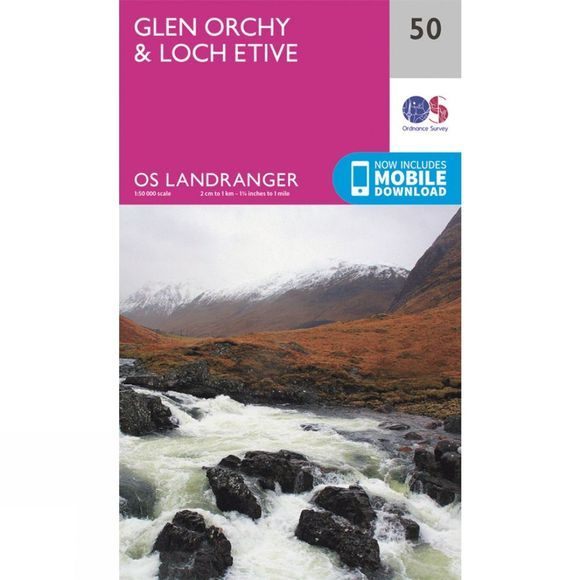 Ordnance Survey Landranger Map 50 Glen Orchy and Loch Etive V16