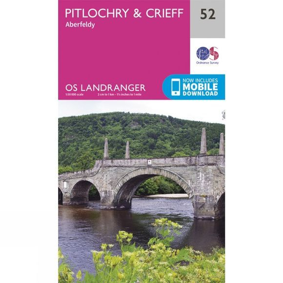 Landranger Map 52 Pitlochry and Crieff