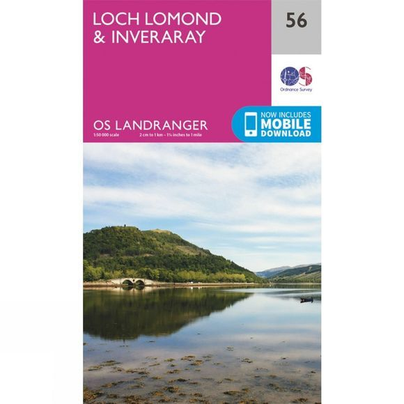 Landranger Map 56 Loch Lomond and Inveraray