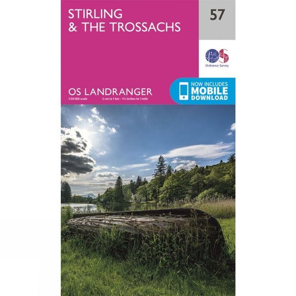 Ordnance Survey Landranger Map 57 Stirling and The Trossachs V16