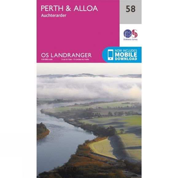Landranger Map 58 Perth and Alloa