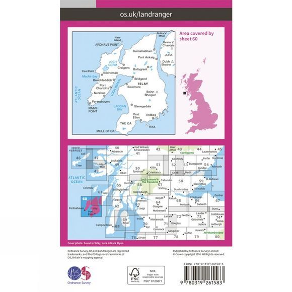 Landranger Map 60 Islay