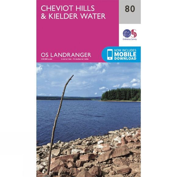 Ordnance Survey Landranger Map 80 Cheviot Hills and Kielder Water V16