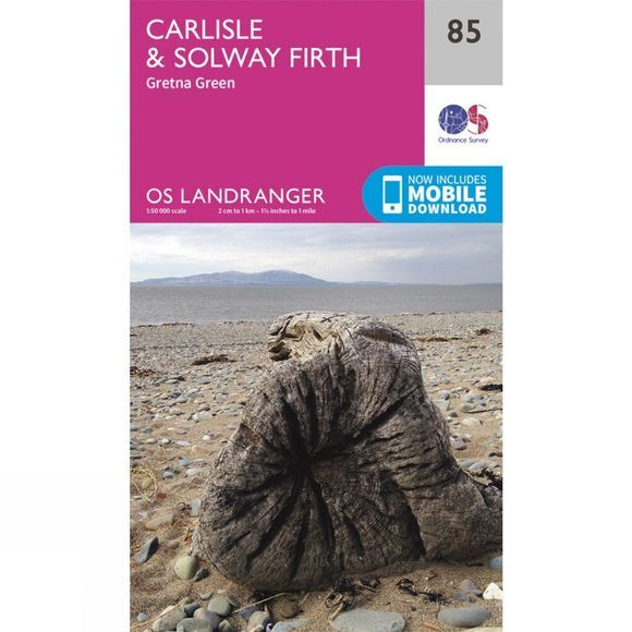 Ordnance Survey Landranger Map 85 Carlisle and Solway Firth V16