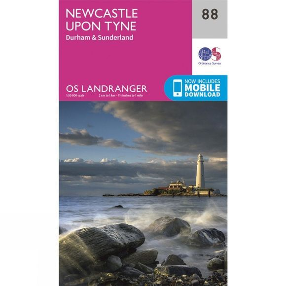 Landranger Map 88 Newcastle Upon Tyne