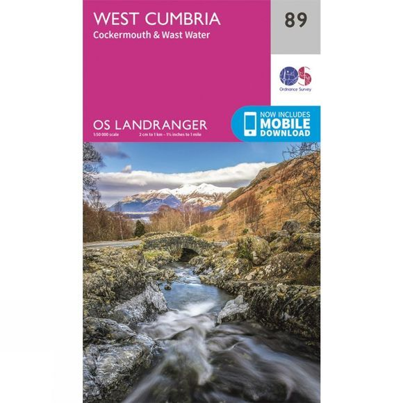 Ordnance Survey Landranger Map 89 West Cumbria V16