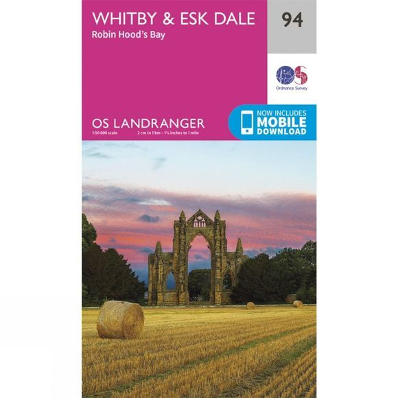 Landranger Map 94 Whitby and Esk Dale