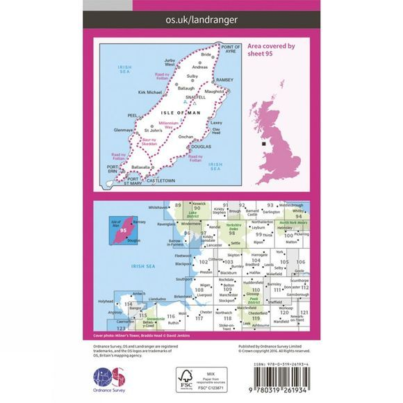 Landranger Map 95 Isle of Man