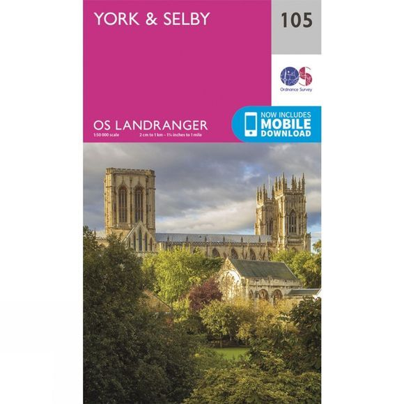 Ordnance Survey Landranger Map 105 York and Selby V16