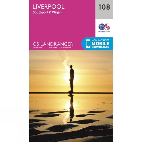 Landranger Map 108 Liverpool
