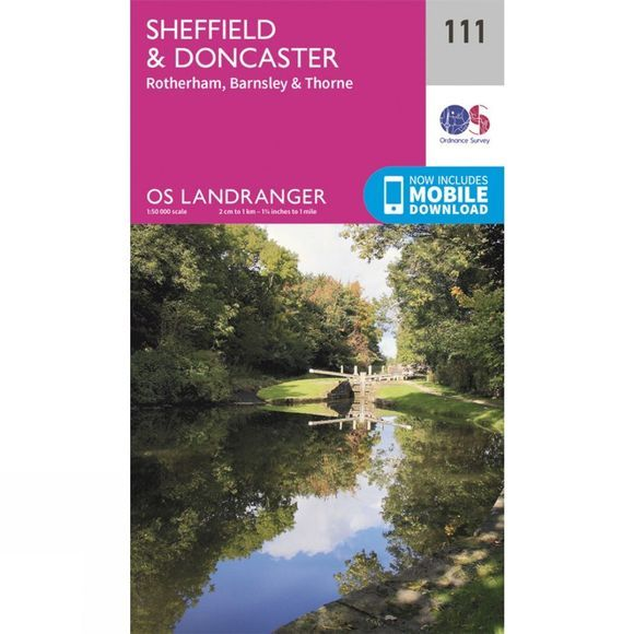 Ordnance Survey Landranger Map 111 Sheffield and Doncaster V16
