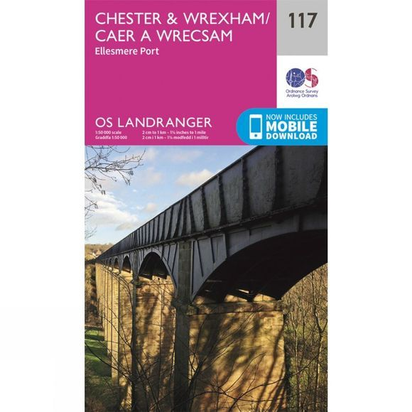 Ordnance Survey Landranger Map 117 Chester and Wrexham V16