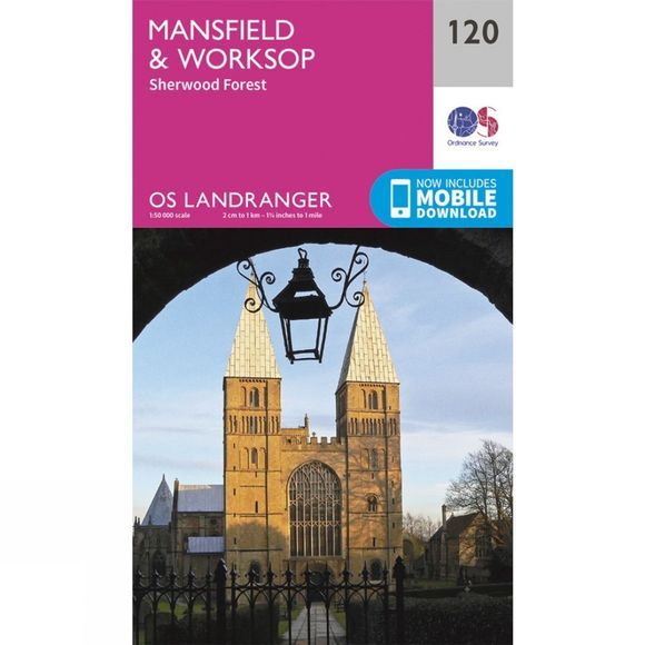 Ordnance Survey Landranger Map 120 Mansfield and Worksop V16