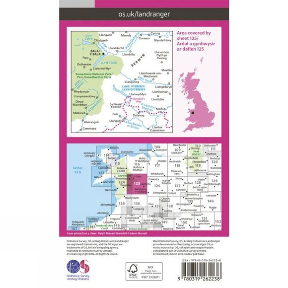 Landranger Map 125 Bala and Lake Vyrnwy