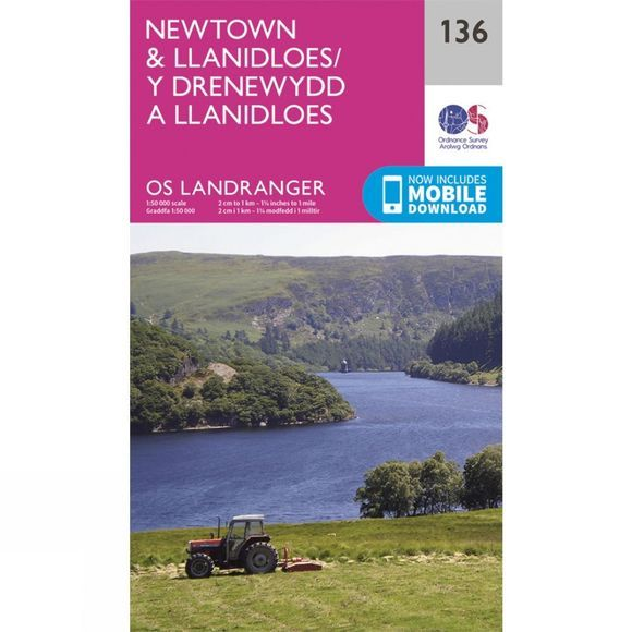 Landranger Map 136 Newtown and Llanidloes