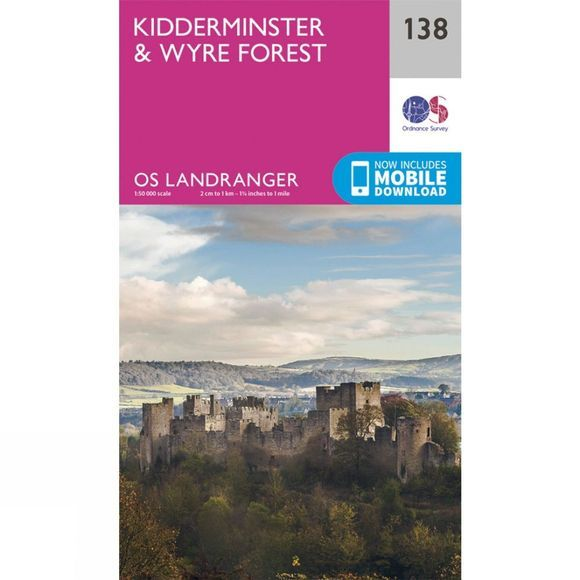 Ordnance Survey Landranger Map 138 Kidderminster and Wyre Forest V16