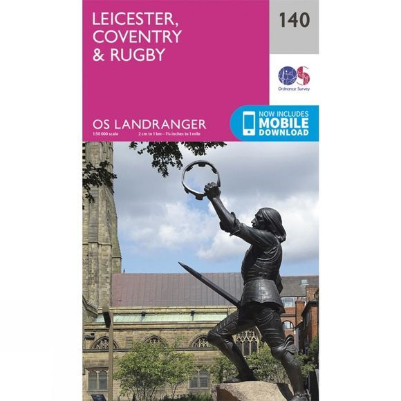 Landranger Map 140 Leicester, Coventry and Rugby