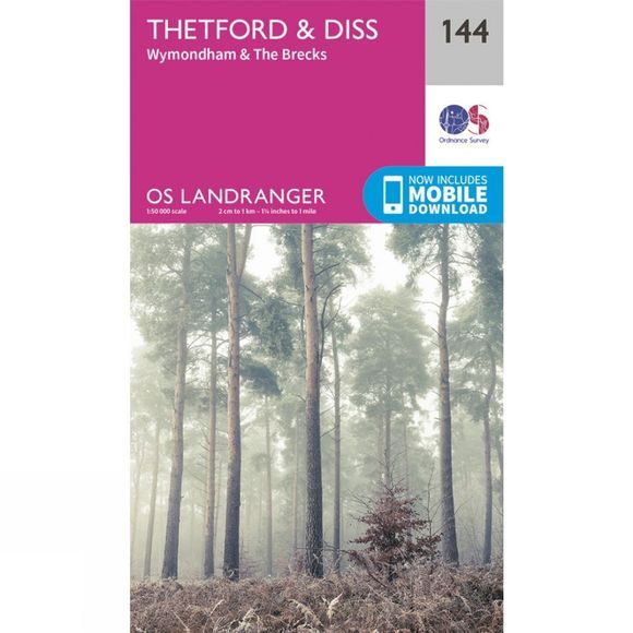 Landranger Map 144 Thetford and Diss