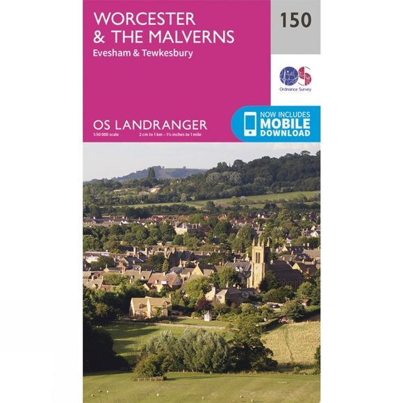 Landranger Map 150 Worcester and The Malverns