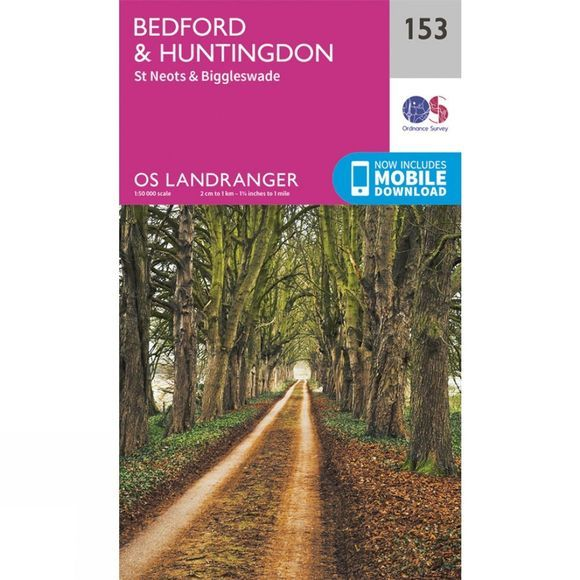 Landranger Map 153 Bedford and Huntingdon