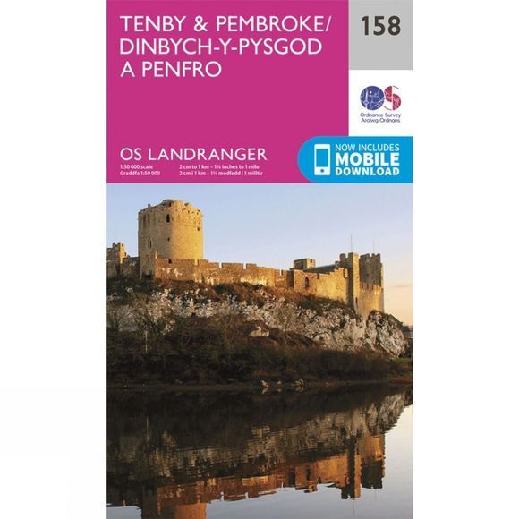 Landranger Map 158 Tenby and Pembroke