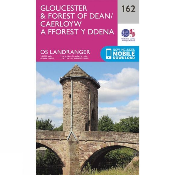 Ordnance Survey Landranger Map 162 Gloucester and Forest of Dean V16