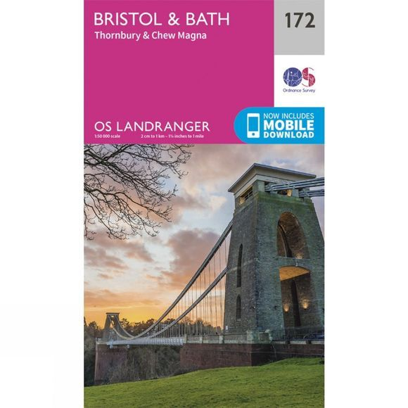Ordnance Survey Landranger Map 172 Bristol and Bath V16