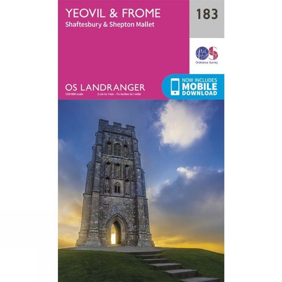 Ordnance Survey Landranger Map 183 Yeovil and Frome V16
