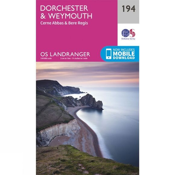 Ordnance Survey Landranger Map 194 Dorchester and Weymouth V16
