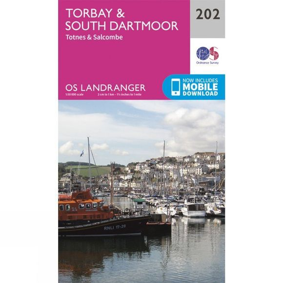 Ordnance Survey Landranger Map 202 Torbay and South Dartmoor V16