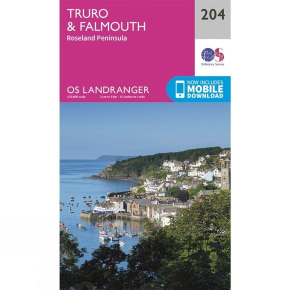 Ordnance Survey Landranger Map 204 Truro and Falmouth V16