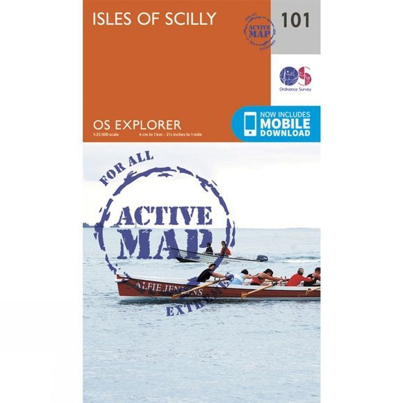Ordnance Survey Active Explorer Map 101 Isles of Scilly V15