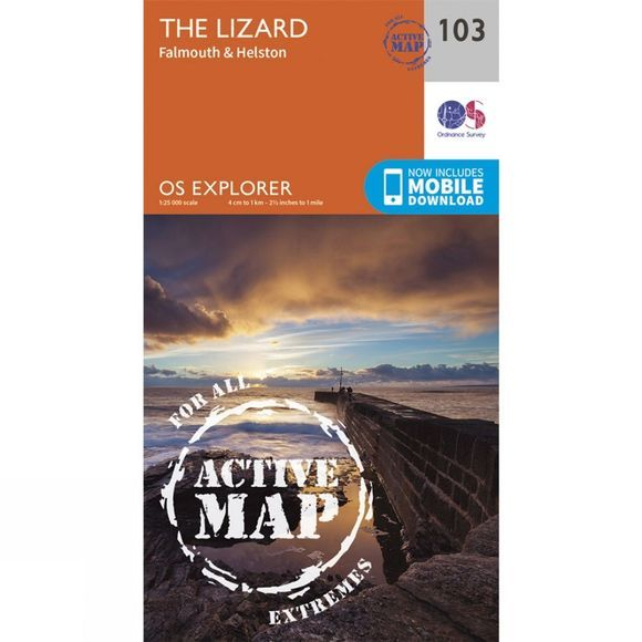 Ordnance Survey Active Explorer Map 103 The Lizard V15