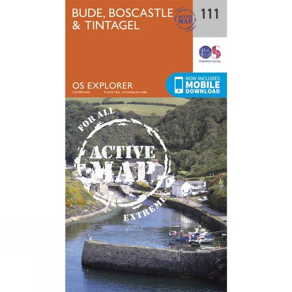 Active Explorer Map 111 Bude, Boscastle and Tintagel