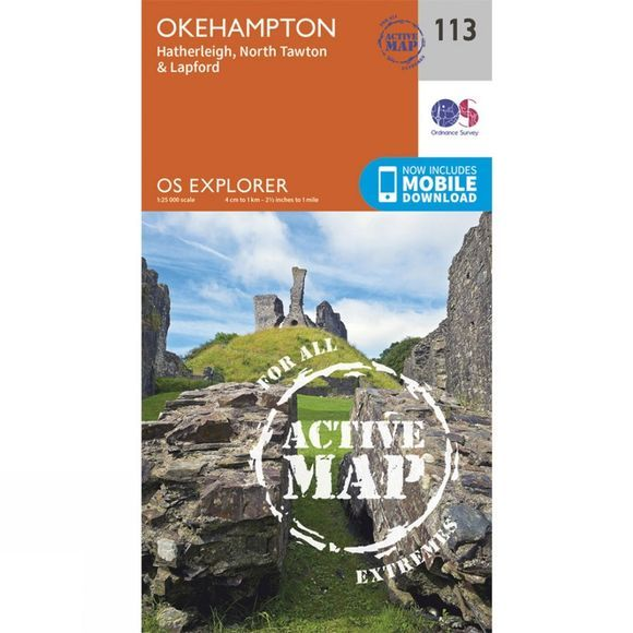 Ordnance Survey Active Explorer Map 113 Okehampton V15