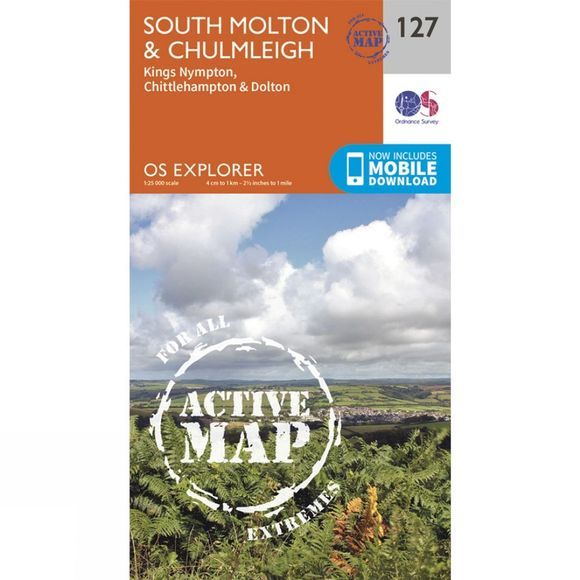 Active Explorer Map 127 South Molton and Chulmleigh
