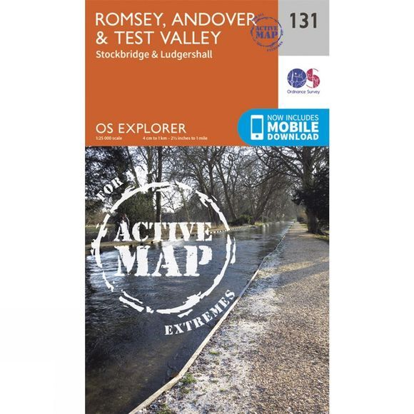 Ordnance Survey Active Explorer Map 131 Romsey, Andover and Test Valley V15